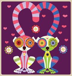 Lemurs lovely couple vector