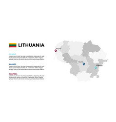 Lithuania map infographic template slide vector