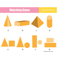 Matching game educational children activity vector