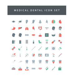 medical icon set with colorful modern flat style vector image