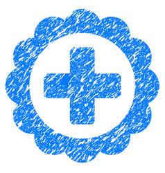 Medical sticker grunge icon vector