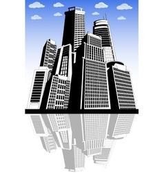Modern city metropolis vector image