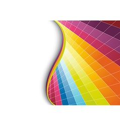 Multicolor geometrical background vector