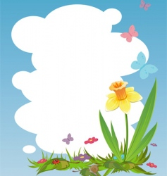 nature frame vector image