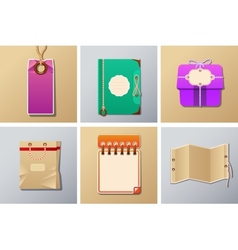 packing and tag set vector image