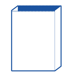 paper bag icon in blue silhouette vector image