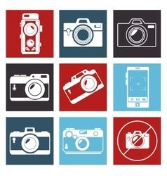 Photographic camera mosaic design graphic vector