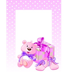 Pink Bear vector image
