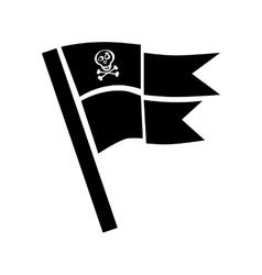 Pirate flag for design on white vector image