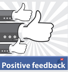 Positive feedback vector