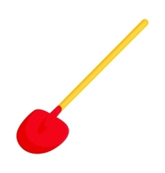 Red shovel icon in cartoon style vector