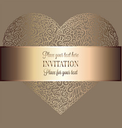 Romantic background with doodle heart vector