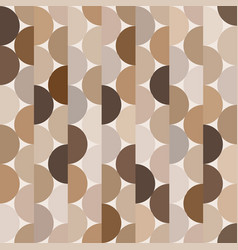 seamless halves rounds colourful brown vector image