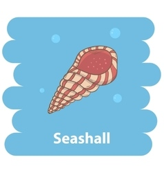 Seashell cartoon vector image