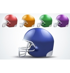 Set of American football helmet Side view vector image