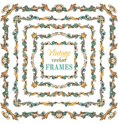 set of vintage border frames vector image