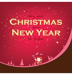 Smile in Christmas and New Year season vector