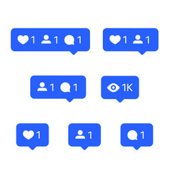 social network icons tooltips speech bubbles vector image