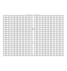 squared manuscript paper vector image