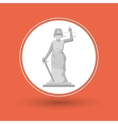 Statue of law and justice design vector