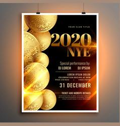 stylish happy new year celebration flyer design vector image