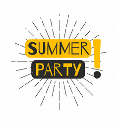 Summer beach party poster background retro vector