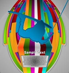 summer sport design series wake boarding theme vector image