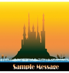 sunburst castle vector image