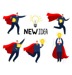 super idea businessman brave strong business man vector image