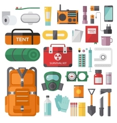 Survival emergency kit for evacuation vector