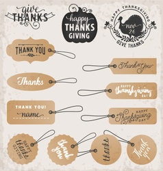 Thanksgiving Day Design Elements and Gift Tags vector