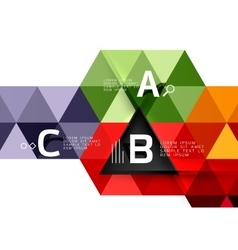 Triangle polygonal abstract background vector image