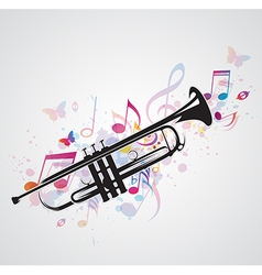 Trumpet black vector