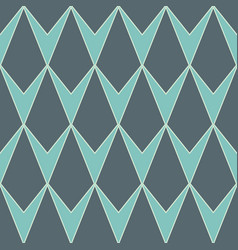 v-shaped rhombus or diamond seamless pattern vector image
