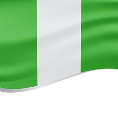 Waving flag of nigeria isolated on white vector