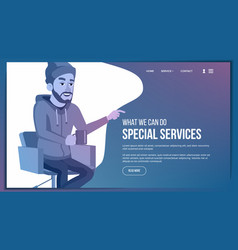 web page business technology creative vector image