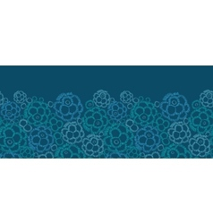 Abstract underwater plants horizontal seamless vector image