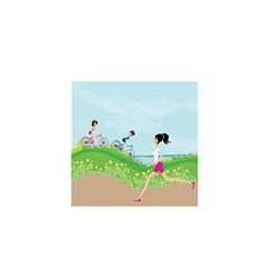 Cartoon female design vector image