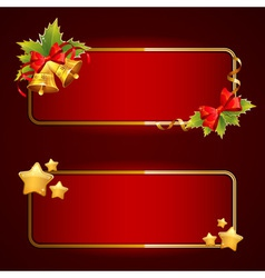 Christmas bright blank festive banners set vector image vector image
