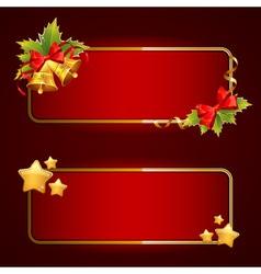 Christmas bright blank festive banners set vector image