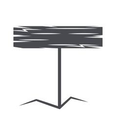 Monochrome emblem wooden sign vector image