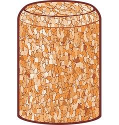Wine cork vector image