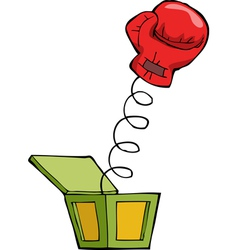 boxing glove out of the box vector image