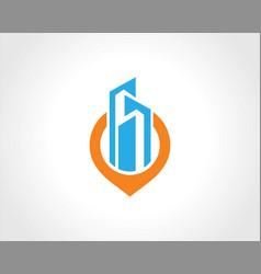 building cityscape position logo vector image vector image