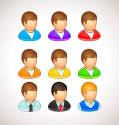 Colorful User Icons different avatars vector image