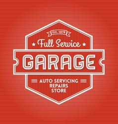 Garage Label vector image vector image
