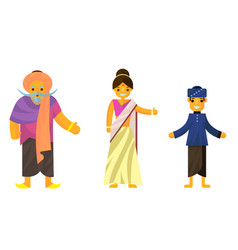 indians in national dress a man and a woman in vector image vector image