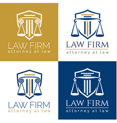 law firm logo column vector image