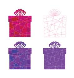 mosaic box vector image vector image