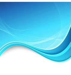 Abstracrt swoosh border lines blue background vector image